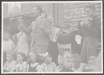 Feest op de Leusderweg na de bevrijding in 1945. O...