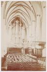 Interieur Sint Joriskerk, met orgel....