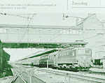Station Amersfoort: Loc 1140 met een sneltrein Rot...