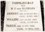 DRIE FOTO'S: Graven van de familie Methorst en Van...