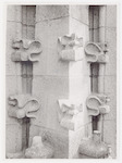 Detailfoto (sculptuur) van de tweede omloop van de...