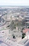 Luchtfoto op de Rondweg (later Stadsring), de tunn...