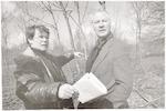 Armando(rechts) en landschapsarchitect Willem Oxen...