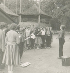 Orkest onder leiding van Renske Nieweg tijdens het...