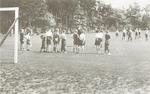 Sportvelden van het pensionaat Saint Louis, aan de...