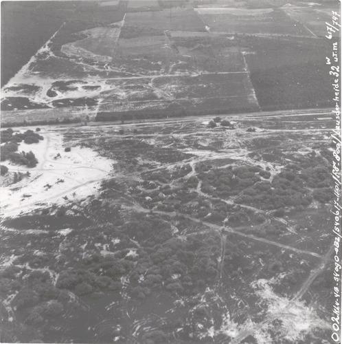 Luchtfoto van de Leusderheide.