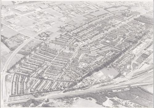 Luchtfoto van het Soesterkwartier (oostelijk deel).