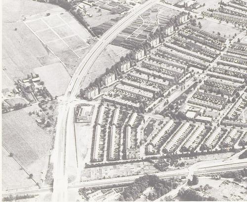 Luchtfoto van het oostelijk deel van het Soesterkwartier.