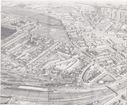 Luchtfoto van het Soesterkwartier, vanuit het zuiden.