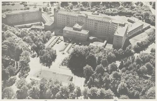 Luchtfoto van ziekenhuis De Lichtenberg, Utrechtseweg 160..