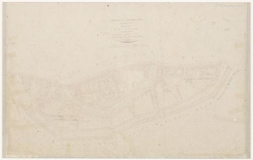 Kadastraal minuut- plan van het zuidelijk deel van de oude binnenstad van Amersfoort. Copie.