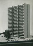 Oostduinkerke: maquette van het appartementsgebouw 'The 21'