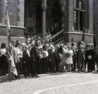 Poperinge: verbroedering op de pui van het stadhuis