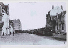 Koksijde: de stoomtram komt aan en zal stoppen voor de Chalet des Bains