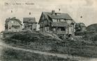 De Panne: vier cottages rechts van de Visserslaan