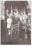 De Panne: koning Albert I met bezoekers