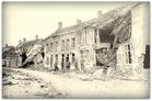 Merkem: Westbroekstraat tijdens Eerste Wereldoorlog