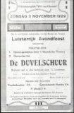 Molenhoek (Koekelare): toneelaffiche van Sint Genesiusgilde voor het stuk 'Wilt van Gheeste'