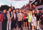 Zonnebeke: winnares dameswedstrijd wielrennen op de foto.