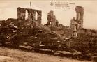 Klerken: het puin van de kerk tijdens de Eerste Wereldoorlog