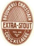 Koekelare: etiket Extra-Stout van brouwerij Christiaen