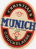 Koekelare: etiket 'Munich'bier brouwerij Christiaen