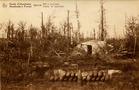 Houthulst: munitieopslagplaats in het bos van Houthulst tijdens de Eerste Wereldoorlog