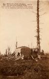 Houthulst: observatiepost in het bos van Houthulst tijdens de Eerste Wereldoorlog
