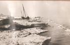 De Panne: vastgevroren panneschuiten tijdens winter 1928-1929