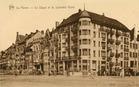De Panne: het nieuwe Hotel Splendid op de hoek van dijk en Halmenstraat