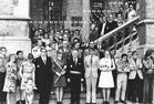 Poperinge: scouts, groepsfoto 10 jaar
