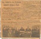 Diksmuide: krantenartikel Gemeenteraad in Parijs