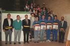 Ieper: nationale kampioenen cyclobal officieel gehuldigd