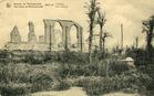 Noordschote: puin van de Sint-Barnabaskerk tijdens de Eerste Wereldoorlog