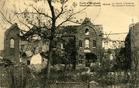 Houthulst: de ruïne van het klooster tijdens de Eerste Wereldoorlog