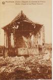Houthulst: Kapel van het klooster van de Broeders Xaverianen  tijdens de Eerste Wereldoorlog