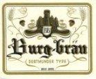 Koekelare: etiket 'Burg-Bräu' van brouwerij Christiaen