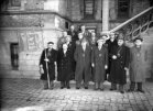 Poperinge: De Grensvink Abele op de pui van het stadhuis