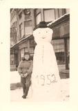 De Panne:Sneeuwman.