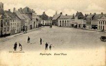 Poperinge: noordkant Grote Markt