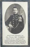Westvleteren: soldaat Jan-Frans De Clerck