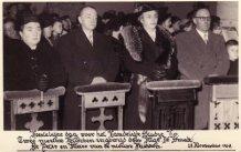 Lo: inhuldiging nieuwe kerkklokken op 28 november 1954