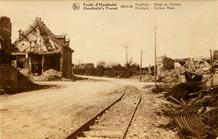 Houthulst: Klerkenstraat tijdens de Eerste Wereldoorlog