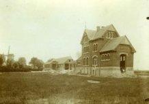 Poperinge: tramdepot van de lijn Poperinge-Veurne anno 1905