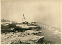 De Panne: bevroren zee in het fotoalbum van Louis Van den Eynde