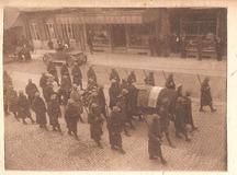 De Panne: begrafenis frans officier tijdens Eerste Wereldoorlog