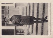 De Panne: Koning Albert I op trappen Villa Maskens
