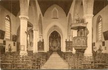 Lo: interieur Sint-Pieterskerk tijdens het interbellum