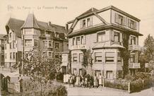 De Panne: pension Montana op de hoek van de Leopold II-Laan en de Koninginnelaan