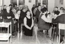Langemark: bewonersfeestje in het rusthuis 1975